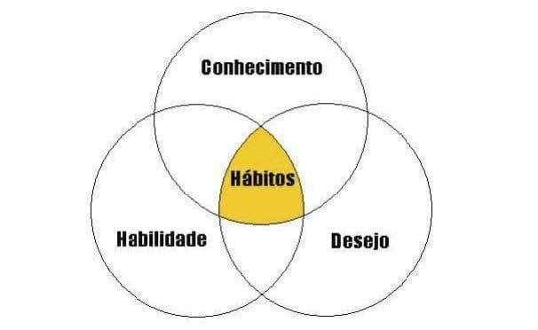 Hábitos eficaz. Princípios interiorizados e padrões de comportamento.